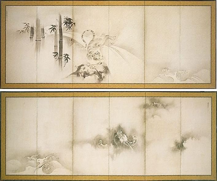 Dragon and tiger, (circa 1640s) by Kanô TAN\'YÛ :: The Collection ...