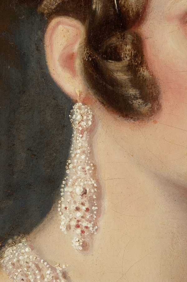Portrait Of Mrs Alexander Spark 1840 By Maurice Felton