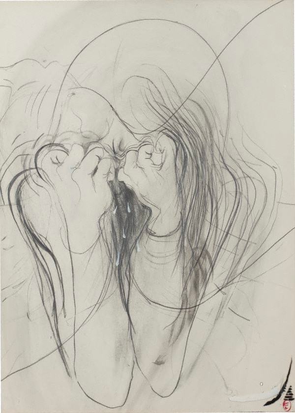 crying woman by brett whiteley the collection art gallery nsw