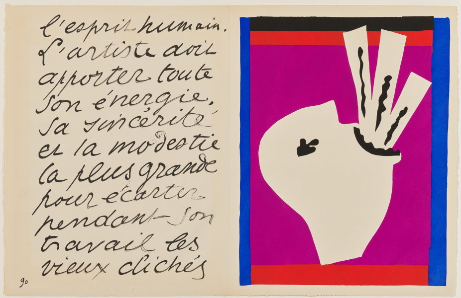 Henri Matisse, The Sword Swallower, from the illustrated book Jazz, 1947