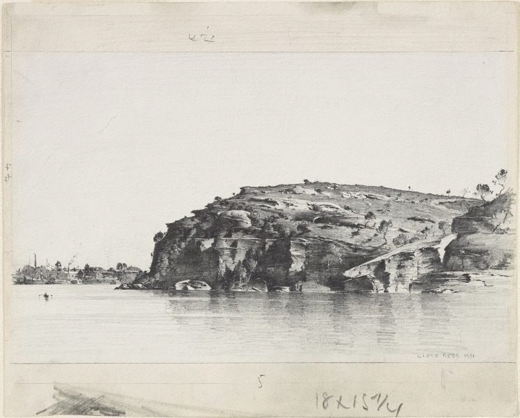 An image of balls head sydney harbour by lloyd rees