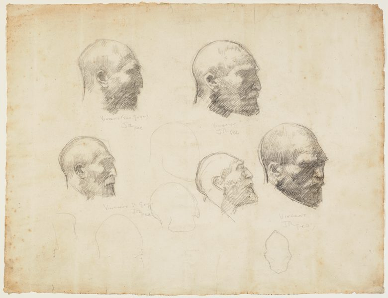 Five Studies Of Vincent Van Gogh Circa 1886 Circa 1888 By