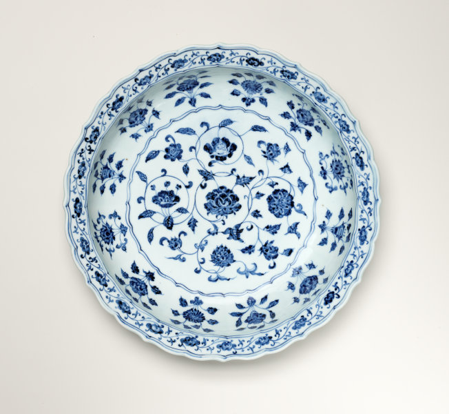 dish with design of flowers of the four seasons circa