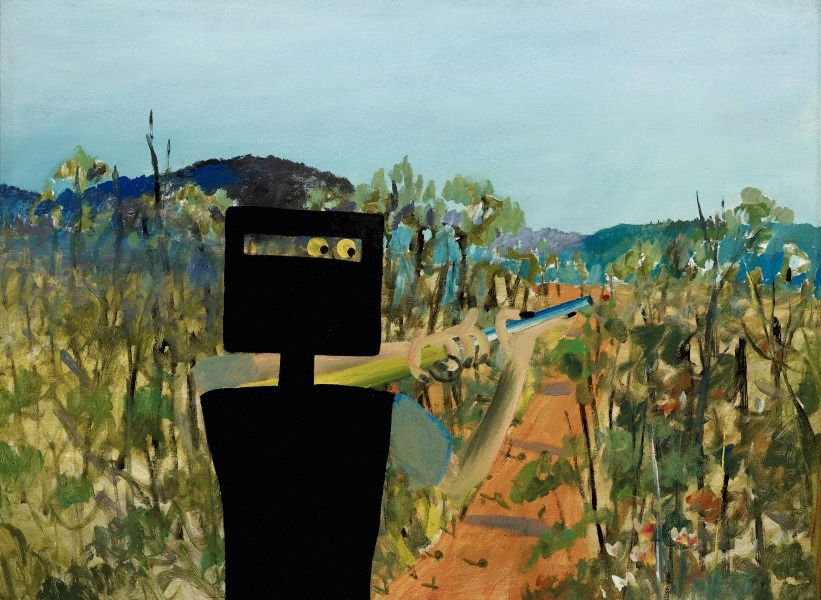 An image of first class marksman by sidney nolan
