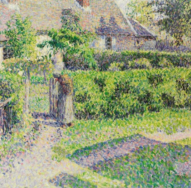 peasants houses eragny 1887 by camille pissarro