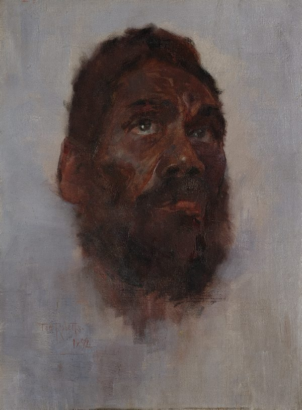aboriginal head charlie turner 1892 by tom roberts the