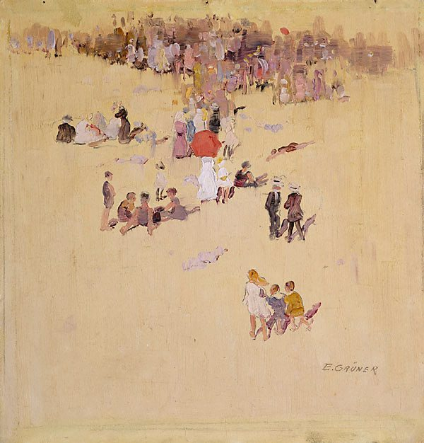 An Image Of Bondi Beach By Elioth Gruner