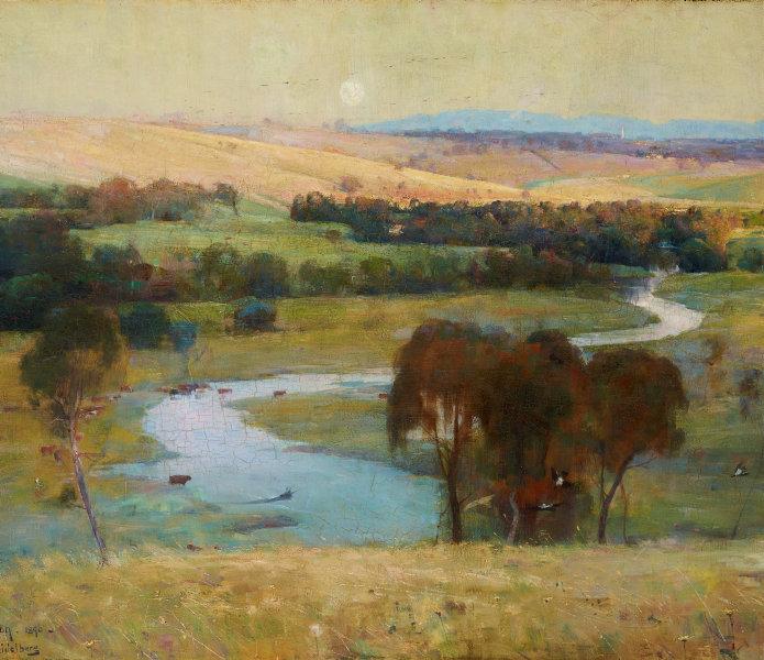 "Classic Australian Art Arthur Streeton At Templestowe Canvas Print 36/"" X 24/"""