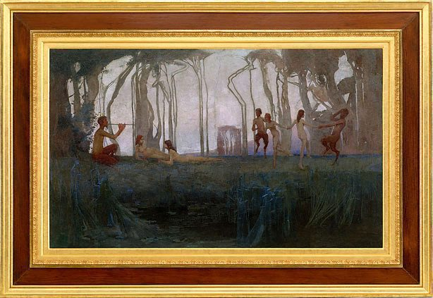 Pan, (1898) by Sydney Long :: The Collection :: Art Gallery NSW