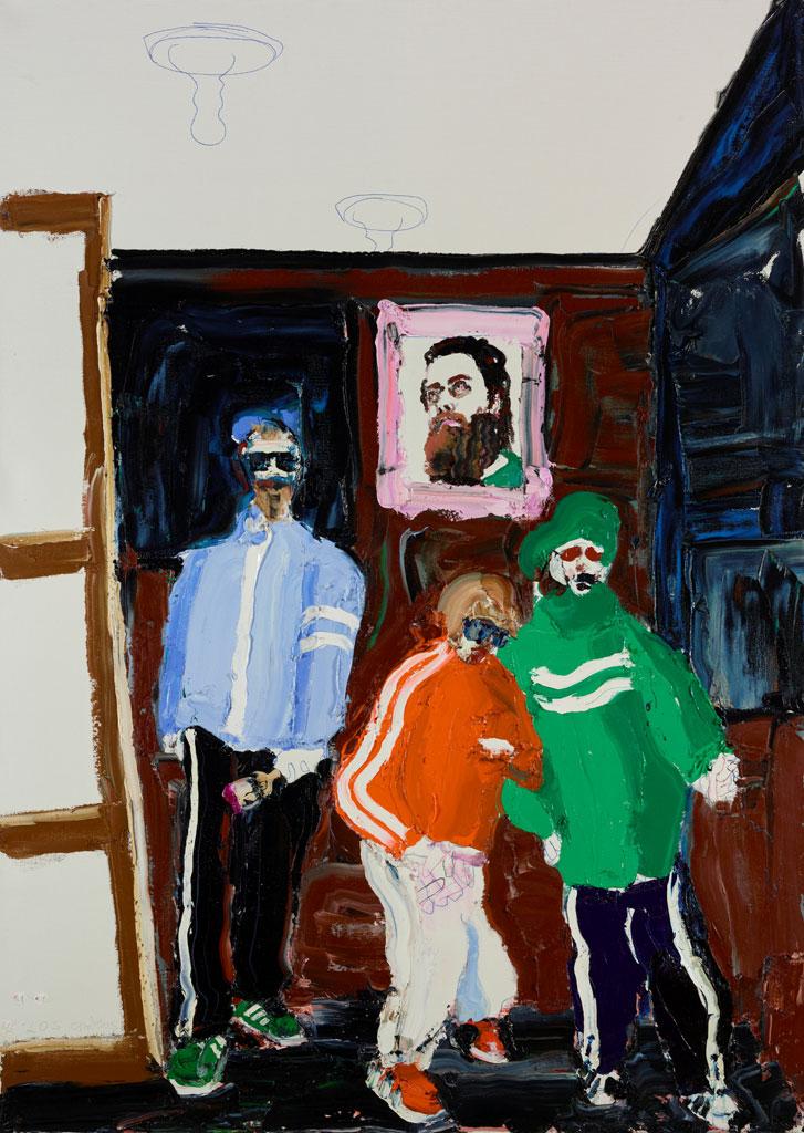 Beastie Boys Christmas.Paul Ryan Self Portrait In The Studio With The Beastie Boys