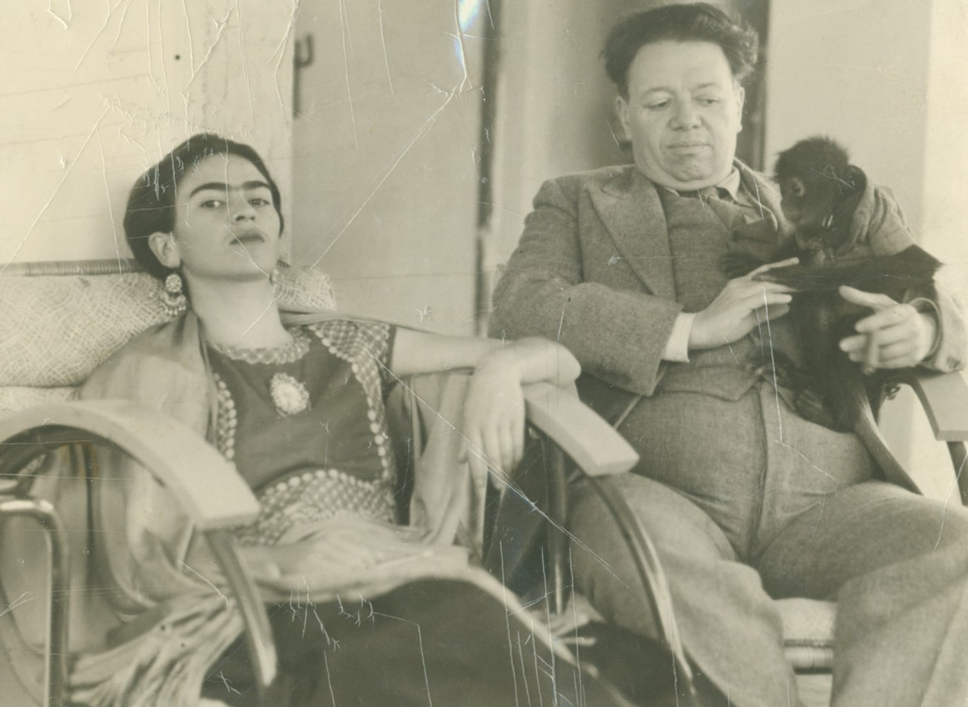 Photographer unknown, 'Frida and Diego with Fulang Chang', 1937