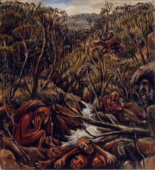 An image of The hunter II (The flood) by Arthur Boyd