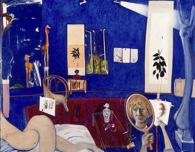Self portrait in the studio, (1976) by Brett Whiteley