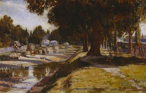 An image of Creswick landscape by Percy Lindsay