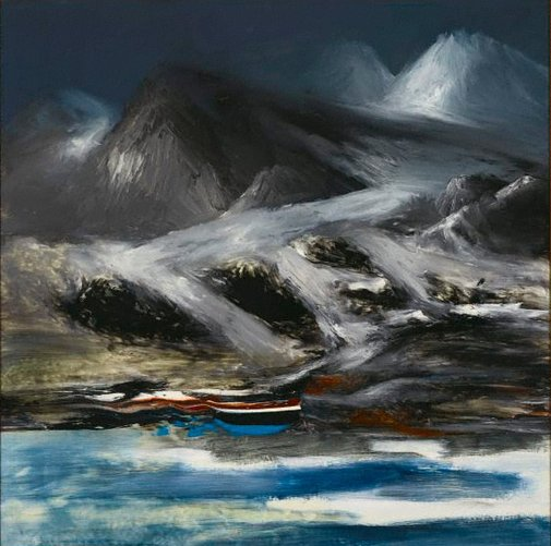 An image of Mt Erebus by Sidney Nolan