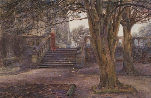 An image of Under the yews by George Samuel Elgood
