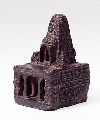 AGNSW collection Model of the temple at Bodhgaya 10th century-11th century