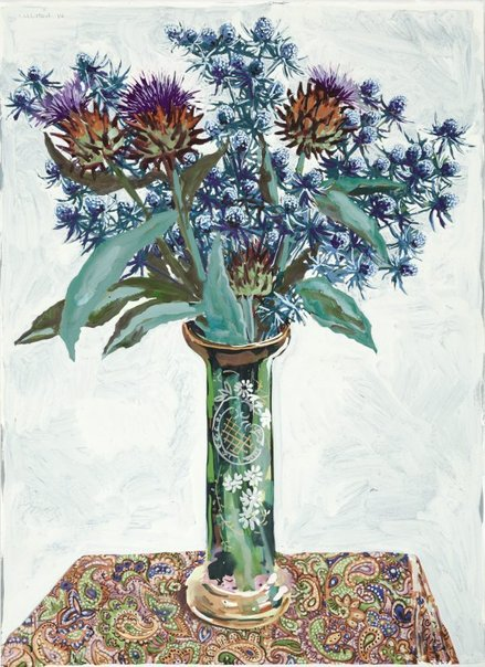 An image of Sea holly and artichokes by Lucy Culliton