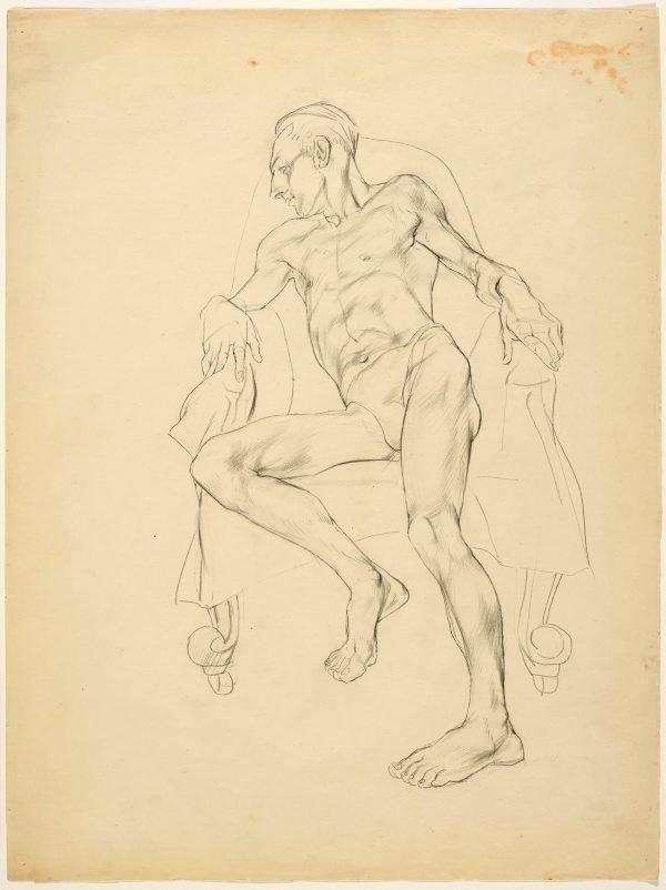 An image of Life study (John Passmore, artist, reclining)