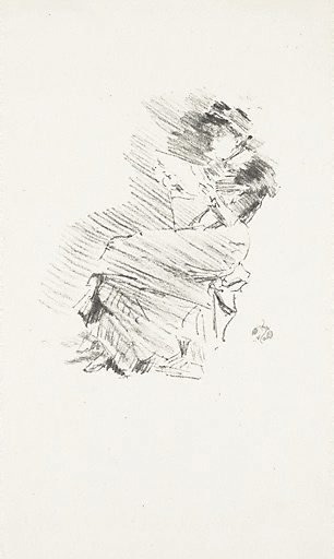 An image of Reading by James Abbott McNeill Whistler