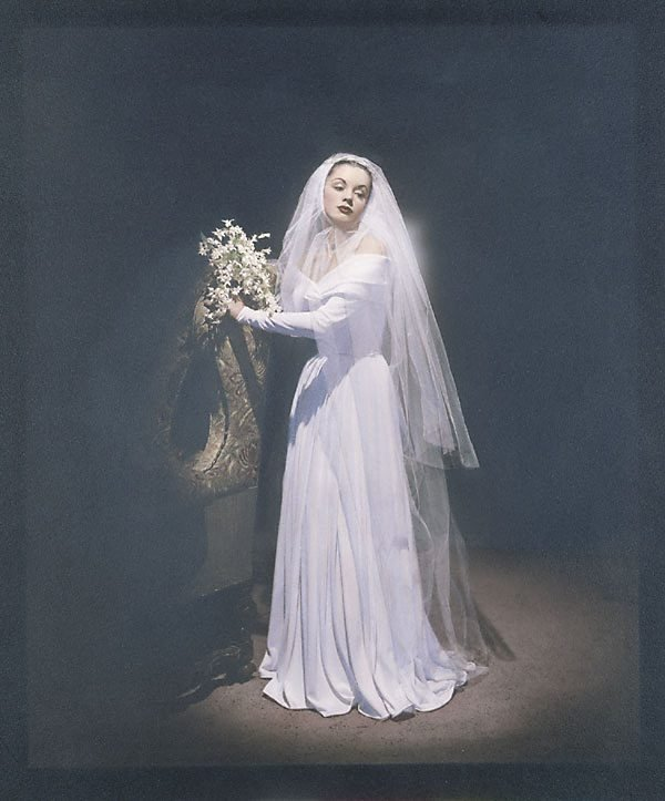 An image of Fashion illustration (Patricia Tuckwell in bridal dress)
