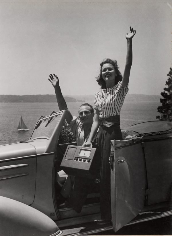 An image of Untitled (couple by Sydney harbour)