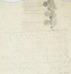 Alternate image of recto: Beachscape with figures verso: Three figures from behind by Lloyd Rees