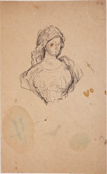 An image of (Study of a young woman) (Late Sydney Period) by William Dobell
