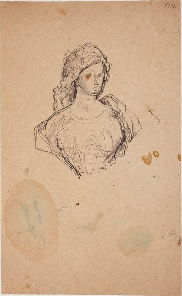 An image of (Study of a young woman) (Late Sydney Period)