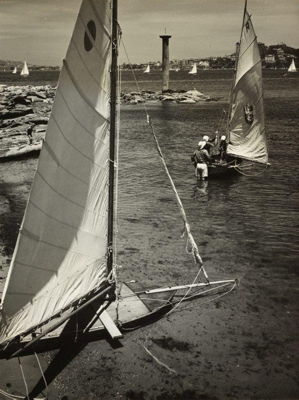 An image of Untitled (skiffs on Sydney harbour)