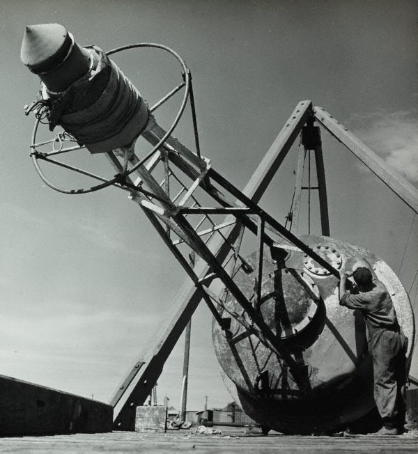 An image of Untitled (man checking buoy)