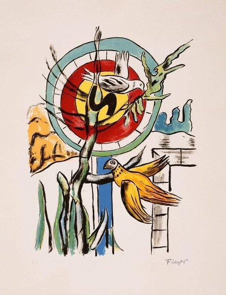 An image of The two birds by Fernand Léger