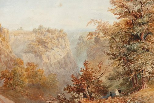 An image of Cheddar Cliffs, Somersetshire by E Evetts
