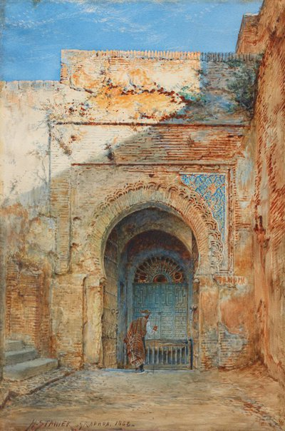 An image of Old Moorish gateway, Alhambra by Henry Stanier