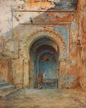 Alternate image of Old Moorish gateway, Alhambra by Henry Stanier