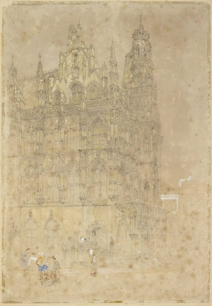 An image of The Town Hall, Oudenaarde, Belgium by John Skinner Prout