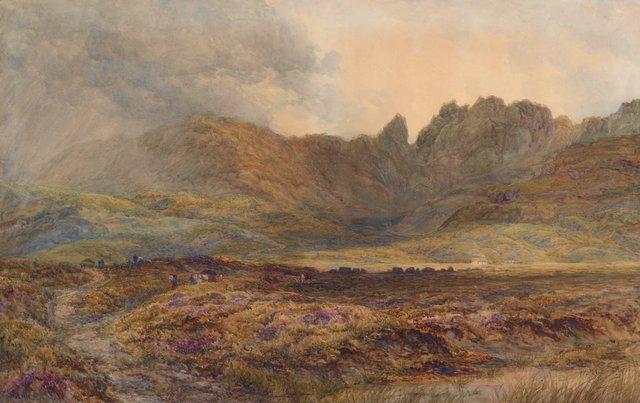An image of Peat moss, Isle of Skye