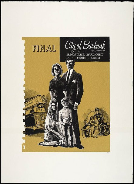 An image of Final: City of Burbank, California, Annual Budget 1968-69 by R.B. Kitaj