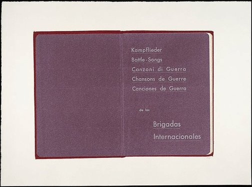An image of Kampflieder: Battle songs: Canzoni di Guerra by R.B. Kitaj