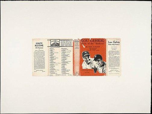 An image of Lou Gehrig by R.B. Kitaj