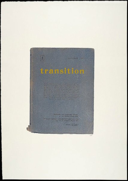 An image of transition by R.B. Kitaj