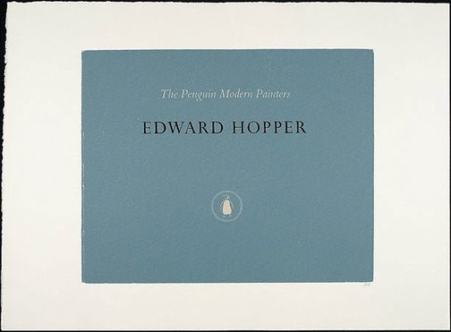 An image of Edward Hopper by R.B. Kitaj