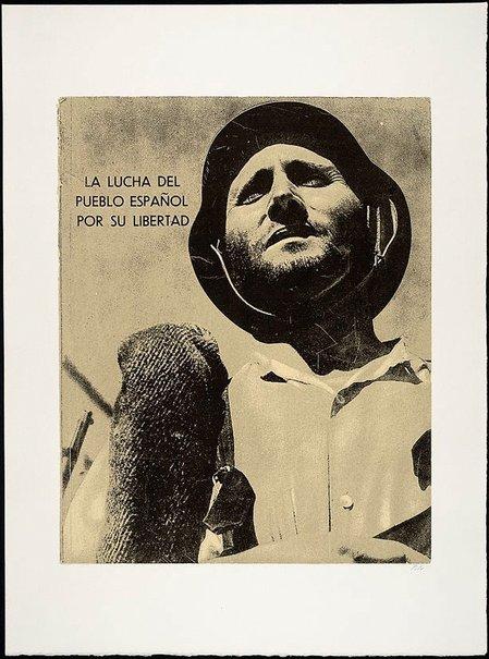 An image of La lucha del pueblo Español por su libertad by R.B. Kitaj