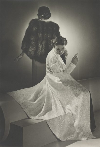 An image of Untitled (fashion illustration: two models) by Max Dupain