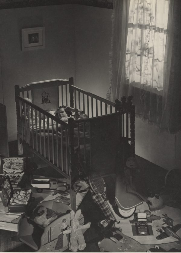 An image of Untitled (child asleep in cot)
