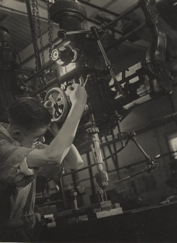 An image of Untitled (man working drill)