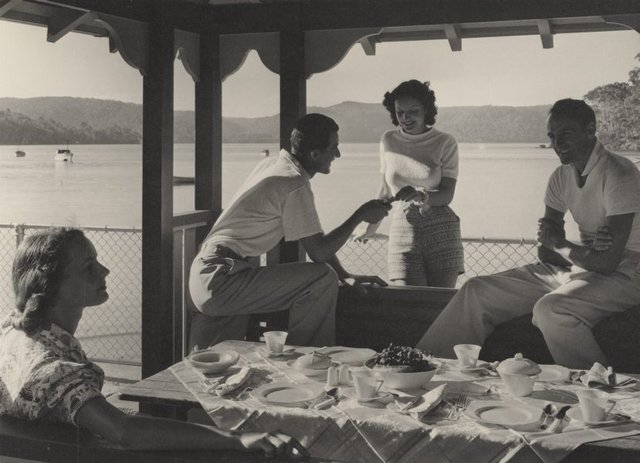 An image of Untitled (luncheon on the verandah)