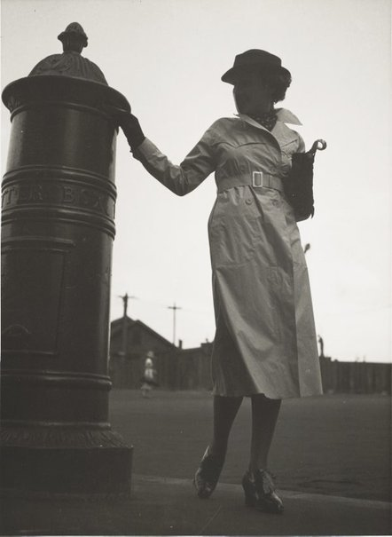 An image of Untitled (woman at post box) by Max Dupain