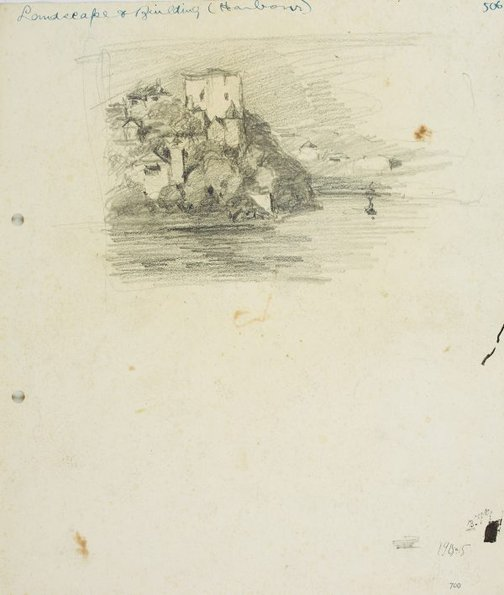 An image of House on a harbour cliff by Lloyd Rees