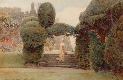 An image of From the terrace by George Samuel Elgood
